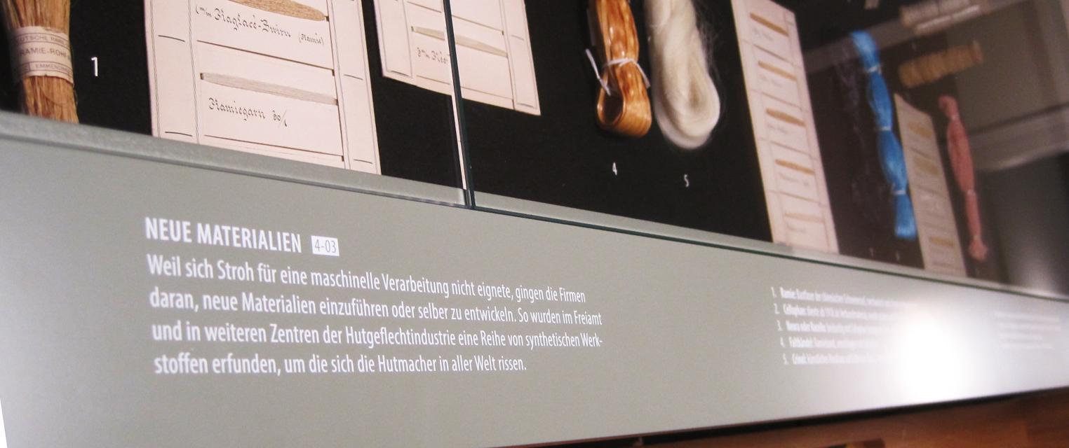 Wagner Schriften Siebdruck Strohmuseum Wohlen