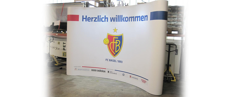Wagner Schriften Display Faltwand FC Basel
