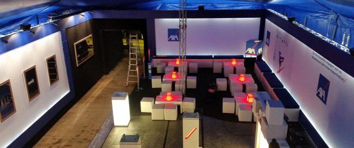 Wagner Schriften Eventsupport Installation und Montage Humorfestival Arosa