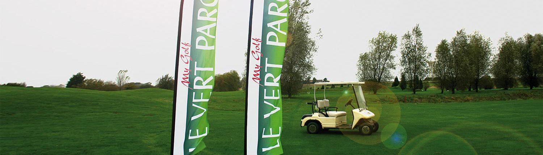 Wagner Schriften Eventwerbung Beachflags Fundflags Golf