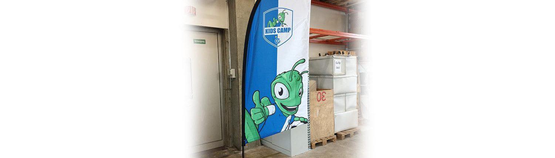 Wagner Schriften Eventwerbung Beachflags Fundflags Referenz Fussballclub GC