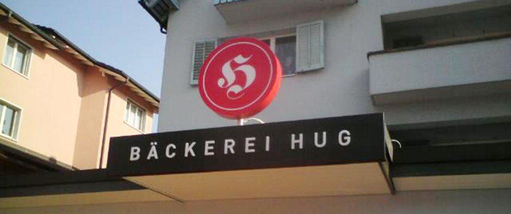 Wagner Schriften Leuchtwerbung Referenz Hug