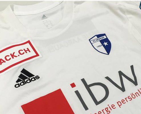 Wagner Schriften Textildruck Vereinskleidung FC Wohlen Trickot