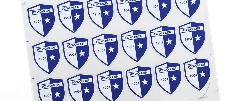 Wagner Schriften Textildruck Vereinskleidung FC Wohlen