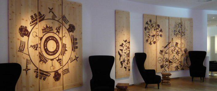 Wagner Schriften Wandbilder Referenz Swisshotel Berlin