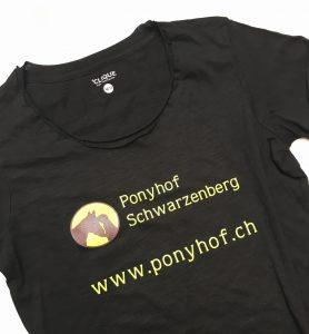 Siebdruck für Ponnyhof Schwarzenberg