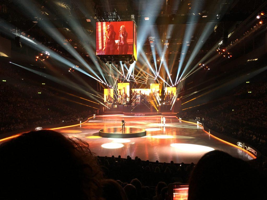 Event Dekoration auf der Bühne von Art on Ice