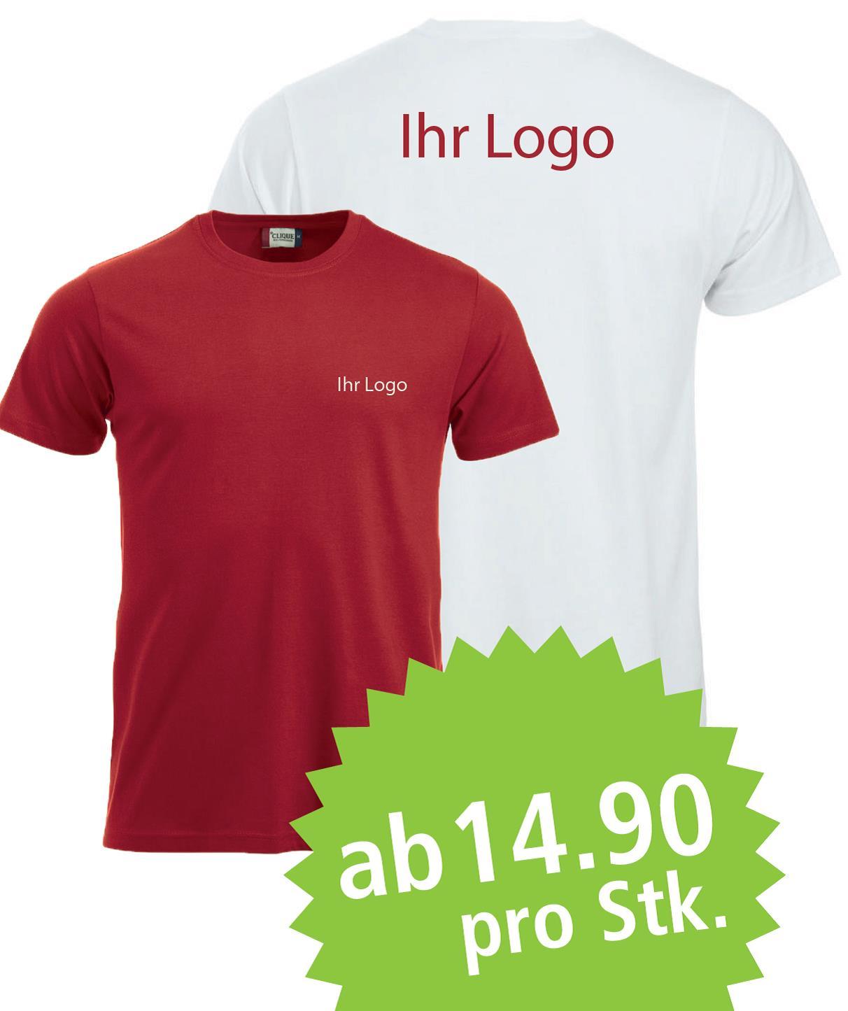 T-Shirts mit Ihrem Logo bedruckt