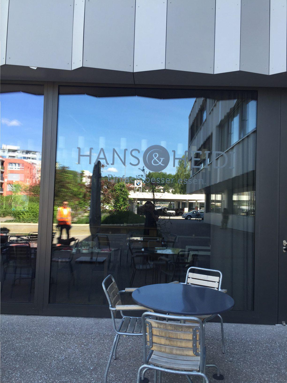 Integra Fensterbeschriftung Hans und Heidi