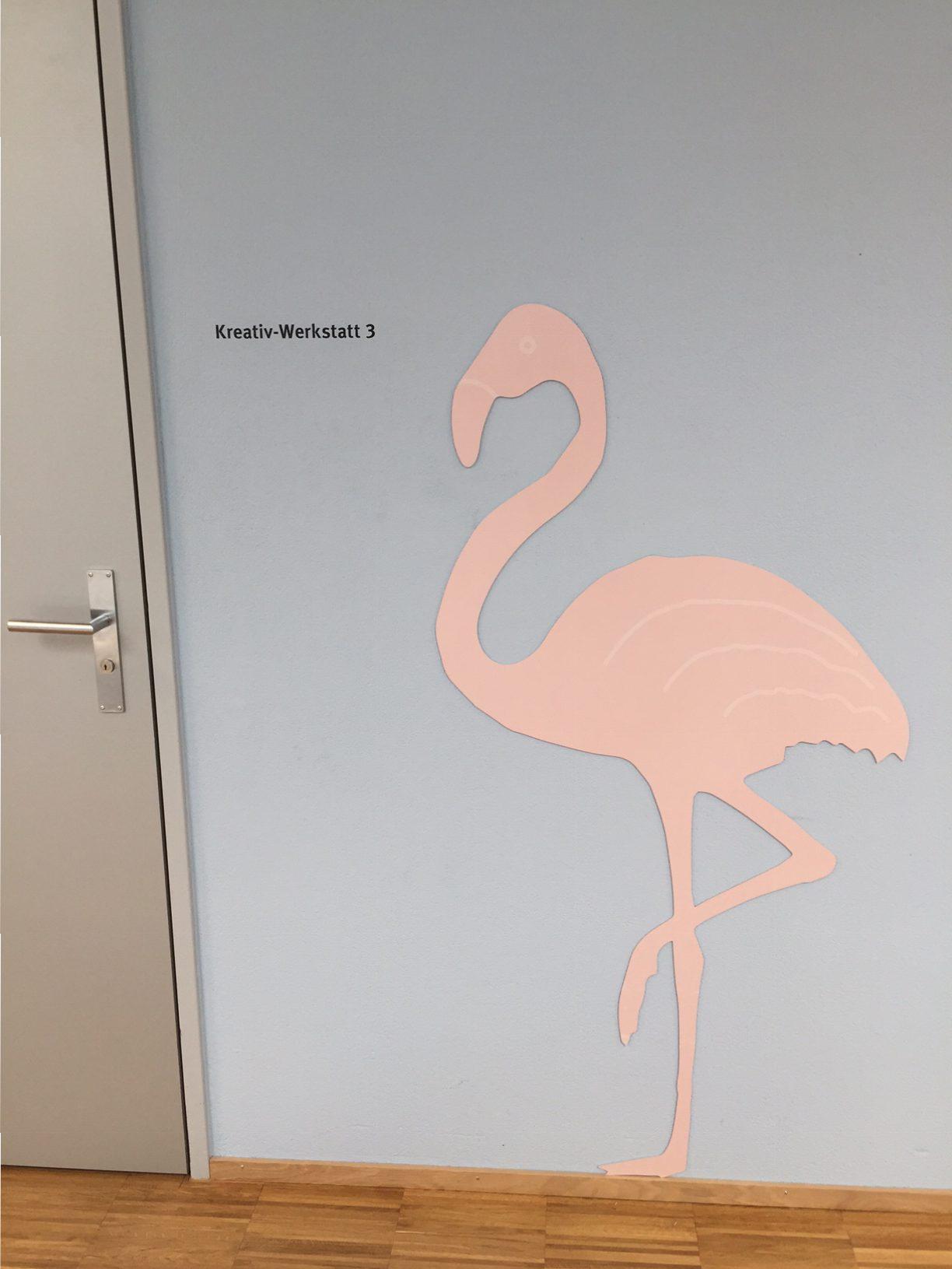 Integra Raumbeschriftung Flamingo