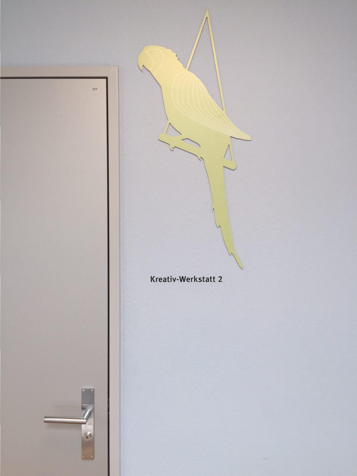 Integra Raumbeschriftung Papagei