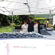 Schuh-Cleaning am Audi Quattro Cup in Ascona
