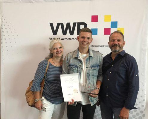 Tim Wagner mit Eltern Michel und Karla Wagner