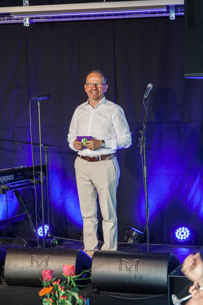 Michel Wagner an seiner Begrüssungsrede zum 25. Jubiläum