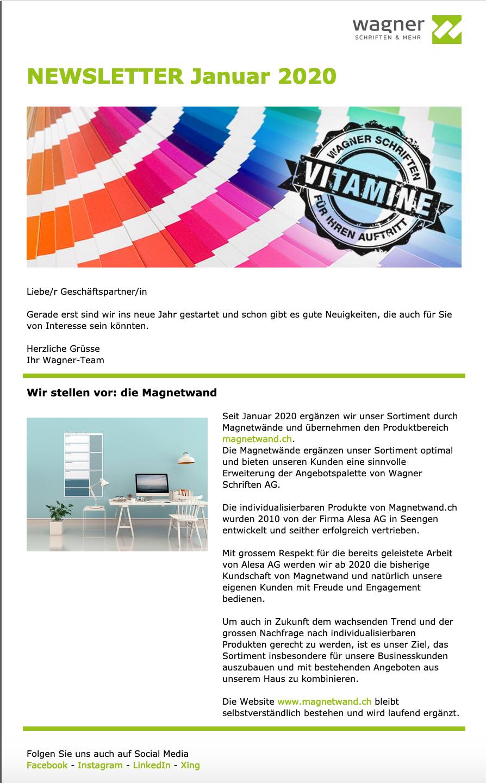 Newsletter_Januar_2020_mein-wagner-uebernimmt-magnetwand.ch
