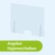 Hygienescheibe für Schutzmassnahme